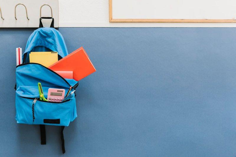 personal property blue bag